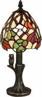 Dale Tiffany TA18346 Owl Garden Antique Bronze Accent Lamp