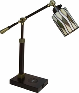 Dale Tiffany TA18378WU Reno Antique Bronze Desk Lamp