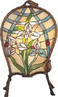 Dale Tiffany TA60469 Floral Panel Contemporary Black Lighting Table Lamp