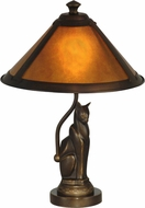 Dale Tiffany TA90197 Ginger Antique Bronze Table Top Lamp