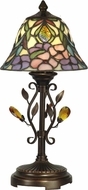Dale Tiffany TA90215 Peony Antique Golden Sand Side Table Lamp