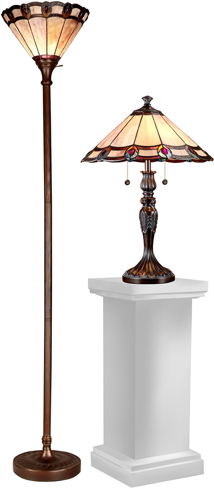 Dale Tiffany Tc15045 Peacock Tiffany Dark Antique Bronze