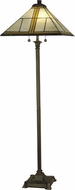 Dale Tiffany TF10497 Simplicity Tiffany Antique Bronze Lighting Floor Lamp