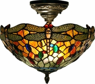 Dale Tiffany TH12235 Sonota Tiffany Dark Antique Brass Ceiling Lighting