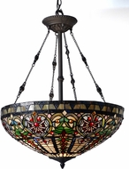 Dale Tiffany TH15120 Fire Opal Tiffany Tiffany Bronze Pendant Hanging Light