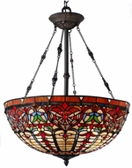 Dale Tiffany TH15121 Nowsoon Tiffany Tiffany Bronze Hanging Light Fixture