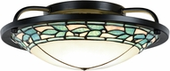 Dale Tiffany TH15475LED Green Leaves Tiffany Tiffany Bronze LED Overhead Light Fixture