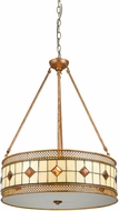 Dale Tiffany TH17024 Minerals Tiffany Rustic Bronze Drum Hanging Pendant Lighting