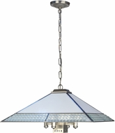 Dale Tiffany TH19004 Leonetto Tiffany Brushed Nickel Pendant Lamp