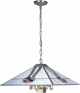 Dale Tiffany TH19008 Mack Tiffany Brushed Nickel Hanging Lamp