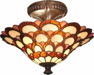 Dale Tiffany TH70118 Peacock Tiffany Fieldstone Ceiling Lighting