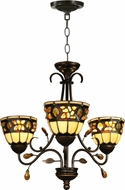 Dale Tiffany TH90230 Pebble Stone Antique Golden Sand Mini Chandelier Lamp