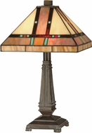 Dale Tiffany TT10090 Hyde Park Tiffany Mica Bronze Table Lighting