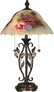Dale Tiffany Tt10449 Hand Painted Leaves Antique Golden