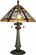 Dale Tiffany TT10526 Floral Branch Tiffany Antique Bronze Table Lighting