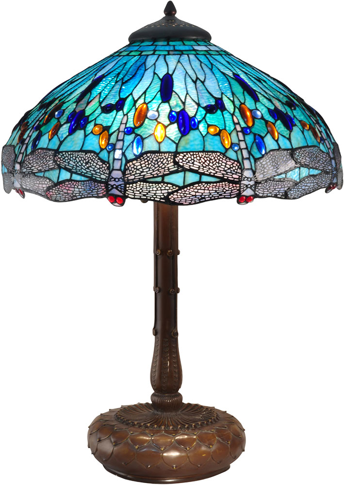 Dale Tiffany Tt15103 Dragonfly Antique Bronze Side Table Lamp