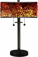 Dale Tiffany TT17018 Pebblestone II Tiffany Tiffany Bronze Table Lighting