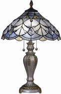 Dale Tiffany TT17075 London Tiffany Antique Pewter/Gold Table Top Lamp