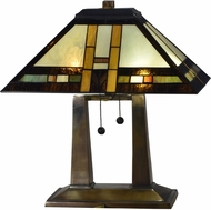 Dale Tiffany TT17077 Sedona Mission Tiffany Antique Bronze Table Top Lamp