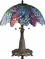 Dale Tiffany TT17101 April Wisteria Tiffany Antique Bronze / Verde Side Table Lamp