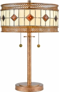 Dale Tiffany TT17113 Minerals Tiffany Rustic Bronze Table Lamp