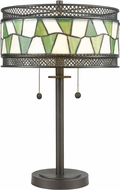 Dale Tiffany TT17114 Rainy Slate Tiffany Tiffany Bronze Table Light