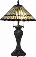 Dale Tiffany TT17117 Trenton Tiffany Fieldstone Lighting Table Lamp