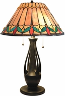 Dale Tiffany TT18175 Jardin Tiffany Dark Antique Bronze Table Lamp Lighting