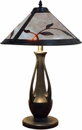 Dale Tiffany TT18176 Spring Leaves Tiffany Antique Bronze Table Top Lamp