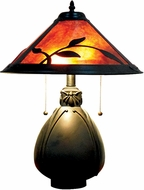Dale Tiffany TT18177 Fall Leaves Tiffany Antique Bronze Side Table Lamp