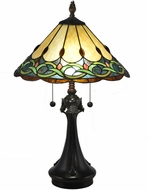 Dale Tiffany TT18178 Adair Tiffany Antique Bronze Table Lamp