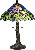Dale Tiffany TT18180 Floral Tiffany Antique Bronze Side Table Lamp