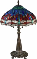 Dale Tiffany TT18186 Wandering Dragonfly Tiffany Antique Bronze Table Light