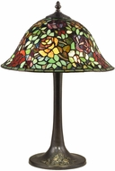 Dale Tiffany TT18188 Garden Rose Tiffany Antique Bronze Lighting Table Lamp
