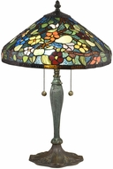 Dale Tiffany TT18189 Southern Garden Tiffany Antique Bronze Verde Table Lamp Lighting