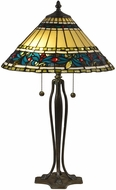 Dale Tiffany TT18190 Jeweled Leaves Tiffany Antique Bronze Verde Table Top Lamp