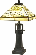 Dale Tiffany TT19045 Akron Tower Antique Bronze Table Top Lamp