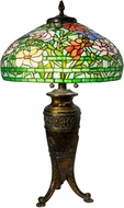 Dale Tiffany TT20038 Astin Floral Tiffany Antique Brass Table Lighting