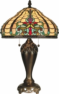 Dale Tiffany TT60203 Topaz Baroque Tiffany Antique Golden Sand Lighting Table Lamp