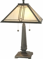 Dale Tiffany TT70735 Lined Mica Bronze Lighting Table Lamp