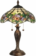 Dale Tiffany TT90179 Chicago Tiffany Antique Bronze Lighting Table Lamp