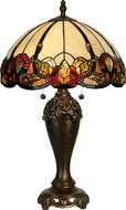 Dale Tiffany TT90235 Northlake Tiffany Antique Bronze Table Top Lamp