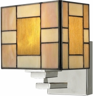 Dale Tiffany TW13016 Trovita Tiffany Brushed Nickel Wall Light Sconce