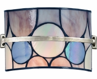 Dale Tiffany TW13017 Meridian Tiffany Brushed Nickel Halogen Wall Lighting Fixture
