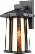 Dale Tiffany TW17030 Fleetwood Tiffany Golden Black Outdoor Wall Light Sconce