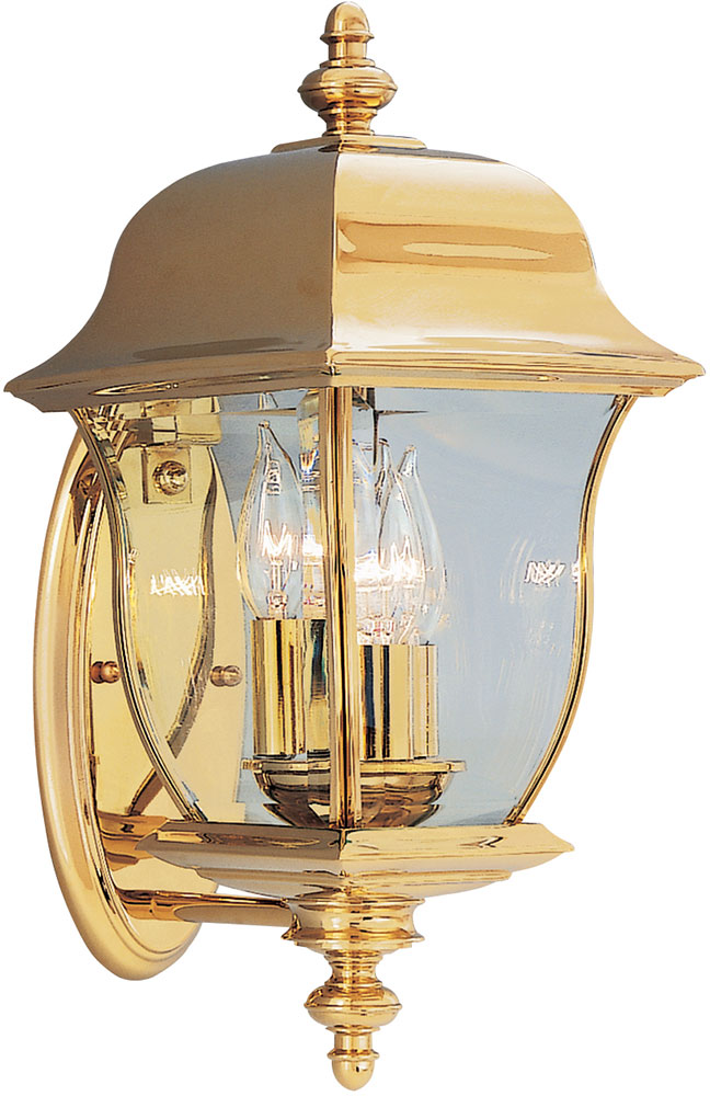 Merveilleux Designers Fountain 1542 PVD PB Gladiator Polished Brass Outdoor Lighting  Sconce. Loading Zoom