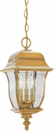Designers Fountain 1554-PVD-PB Gladiator Traditional Polished Brass Outdoor Mini Pendant Lighting