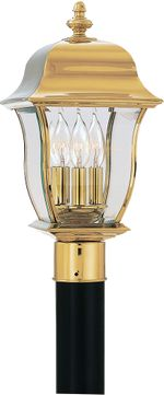 Designers Fountain 1556-PVD-PB Gladiator Traditional Polished Brass Exterior Post Lighting