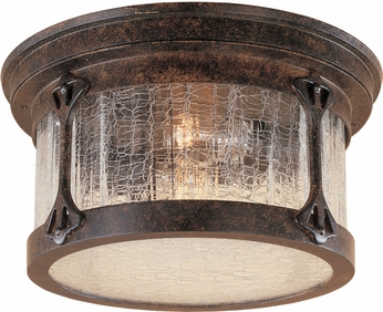 Designers Fountain 20935-CHN Canyon Lake Traditional Chestnut Outdoor Flush Lighting