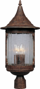 Designers Fountain 20936-CHN Canyon Lake Traditional Chestnut Exterior Post Lighting Fixture